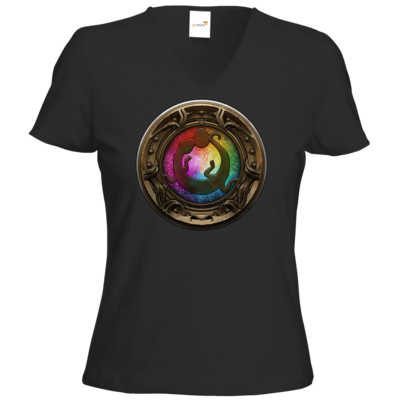 Motiv: T-Shirt Damen V-Neck Classic - Götter Siegel - Tsa