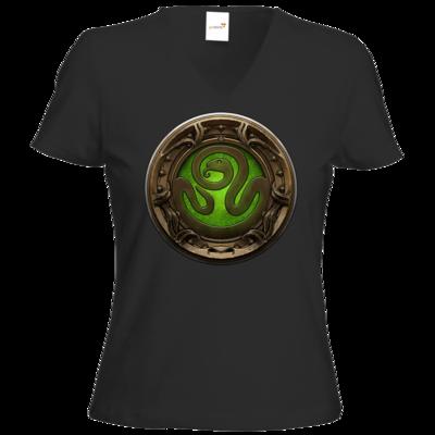 Motiv: T-Shirts Damen V-Neck FAIR WEAR - Götter Siegel - Hesinde