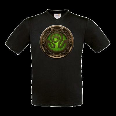 Motiv: T-Shirt V-Neck FAIR WEAR - Götter Siegel - Hesinde