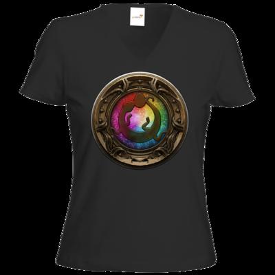 Motiv: T-Shirts Damen V-Neck FAIR WEAR - Götter Siegel - Tsa