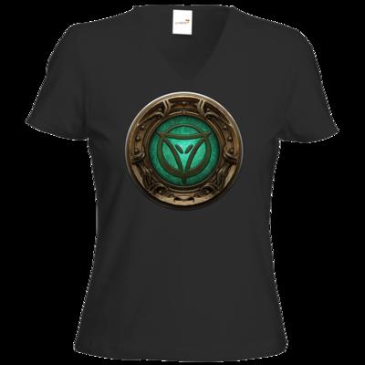Motiv: T-Shirt Damen V-Neck Classic - Götter Siegel - Phex