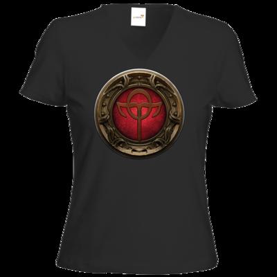Motiv: T-Shirt Damen V-Neck Classic - Götter Siegel - Rahja
