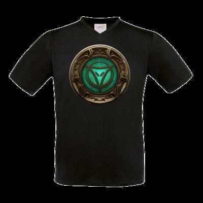 Motiv: T-Shirt V-Neck FAIR WEAR - Götter Siegel - Phex
