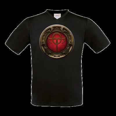 Motiv: T-Shirt V-Neck FAIR WEAR - Götter Siegel - Rahja
