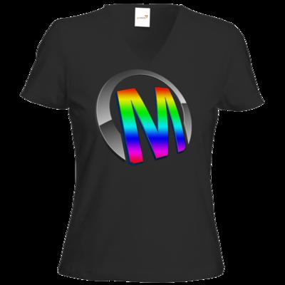 Motiv: T-Shirt Damen V-Neck Classic - Macho - Logo - 2Jahre