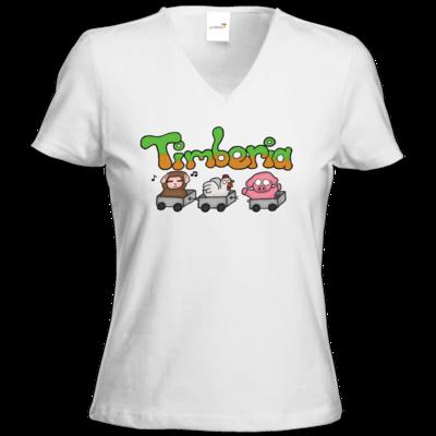 Motiv: T-Shirts Damen V-Neck FAIR WEAR - Timberia Zug
