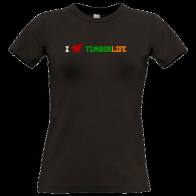 Motiv: T-Shirt Damen Premium FAIR WEAR - I love TimberLife
