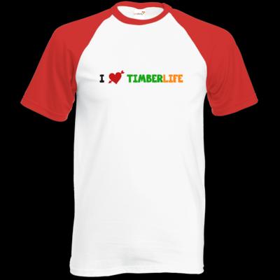 Motiv: Baseball-T FAIR WEAR - I love TimberLife