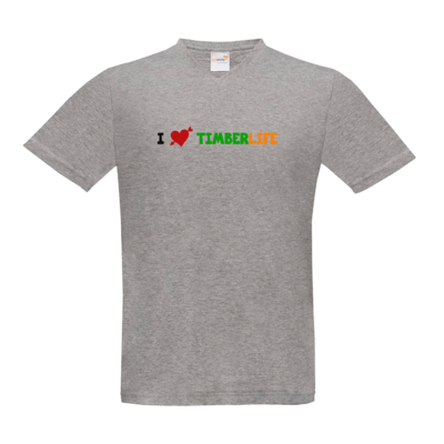Motiv: T-Shirt V-Neck FAIR WEAR - I love TimberLife