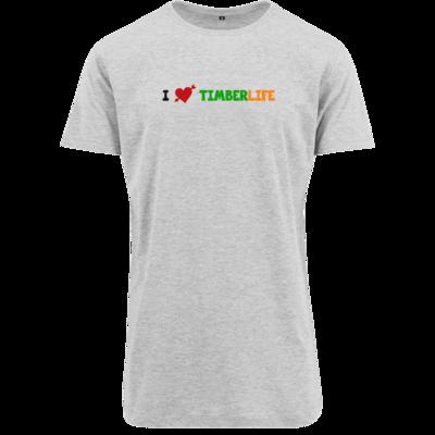 Motiv: Shaped Long Tee - I love TimberLife