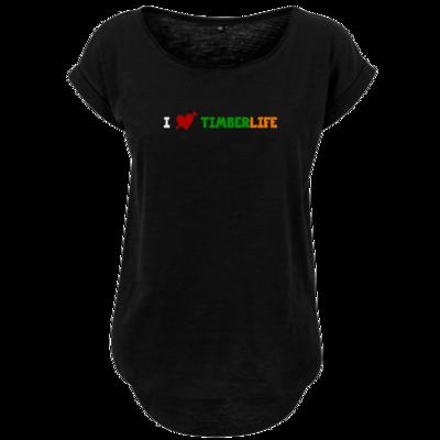 Motiv: Ladies Long Slub Tee - I love TimberLife