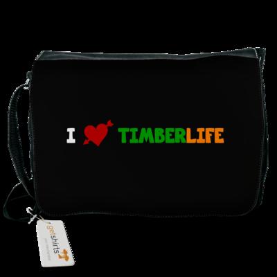 Motiv: Schultertasche - I love TimberLife