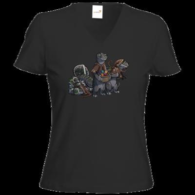 Motiv: T-Shirt Damen V-Neck Classic - Ulisses - Lagerkobolde