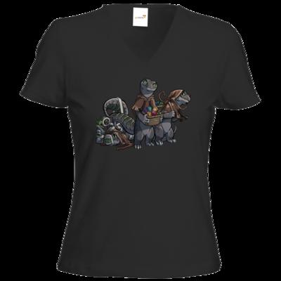 Motiv: T-Shirts Damen V-Neck FAIR WEAR - Ulisses - Lagerkobolde