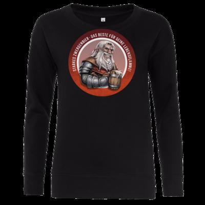 Motiv: Girlie Crew Sweatshirt - Sprüche - Zwergenbier