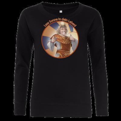 Motiv: Girlie Crew Sweatshirt - Sprüche - Götter - Praios - Lass Sonne in...