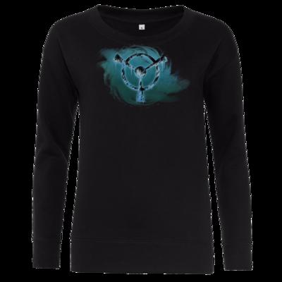 Motiv: Girlie Crew Sweatshirt - Götter und Dämonen - Namenloser Frost