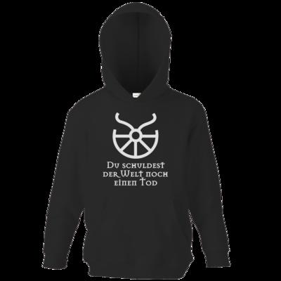 Motiv: Kids Hooded Sweat - Sprüche - Götter - Boron - Du schuldest der Welt noch einen Tod