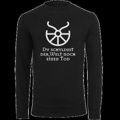 Motiv: Light Crew Sweatshirt - Sprüche - Götter - Boron - Du schuldest der Welt noch einen Tod
