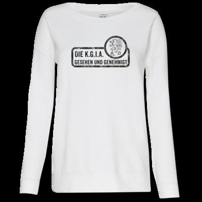 Motiv: Girlie Crew Sweatshirt - Sprüche - KGIA - Gesehen und genehmigt