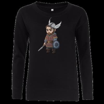 Motiv: Girlie Crew Sweatshirt - Let's Plays - Nubor - Chibi