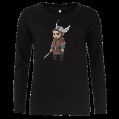 Motiv: Girlie Crew Sweatshirt - Let's Plays - Nubor der Schildlose - Chibi