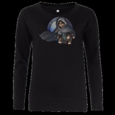 Motiv: Girlie Crew Sweatshirt - Götter - Phex - Chibi