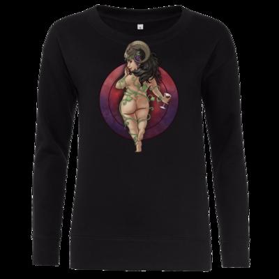 Motiv: Girlie Crew Sweatshirt - Götter - Rahja - Chibi