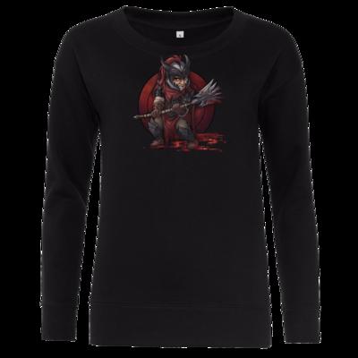 Motiv: Girlie Crew Sweatshirt - Götter - Kor - Chibi