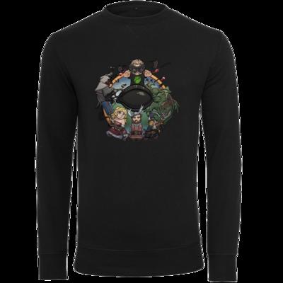 Motiv: Light Crew Sweatshirt - Let's Plays - Das Buch Der Abenteuer - Chibi