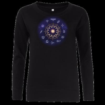Motiv: Girlie Crew Sweatshirt - Götter - Zwölfgötterkreis