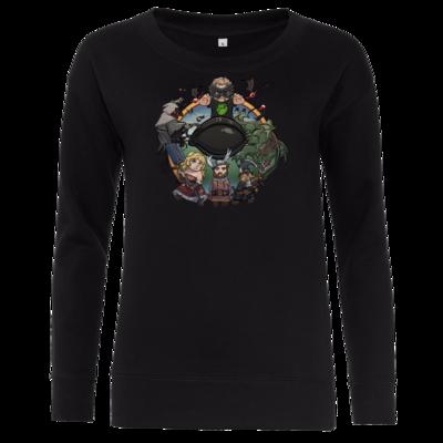 Motiv: Girlie Crew Sweatshirt - Let's Plays - Das Buch Der Abenteuer - Chibi