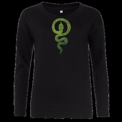Motiv: Girlie Crew Sweatshirt - Götter - Hesinde - Symbol