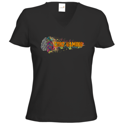 Motiv: T-Shirts Damen V-Neck FAIR WEAR - CEHZ-Gaming Logo