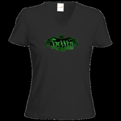 Motiv: T-Shirt Damen V-Neck Classic - Logo - HeXXen