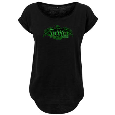 Motiv: Ladies Long Slub Tee - Logo - HeXXen