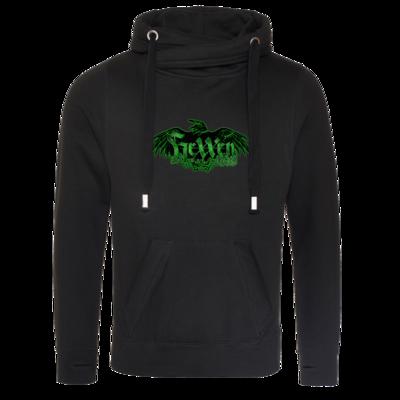 Motiv: Cross Neck Hoodie - Logo - HeXXen