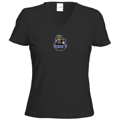Motiv: T-Shirt Damen V-Neck Classic - DeroxsTV Logo