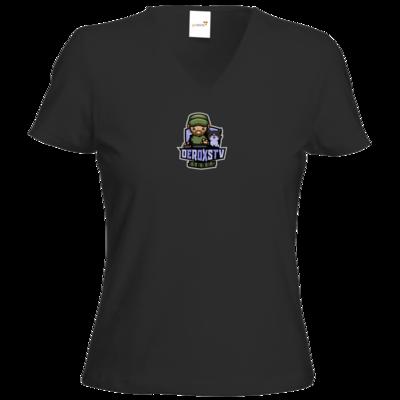 Motiv: T-Shirts Damen V-Neck FAIR WEAR - DeroxsTV Logo