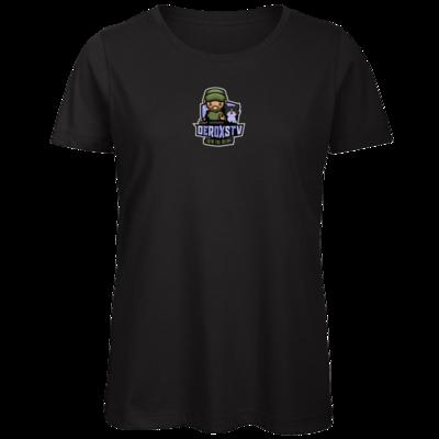 Motiv: Organic Lady T-Shirt - DeroxsTV Logo