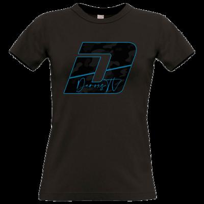 Motiv: T-Shirt Damen Premium FAIR WEAR - Deroxs Camouflage Logo