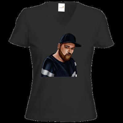 Motiv: T-Shirts Damen V-Neck FAIR WEAR - Deroxs Porträt