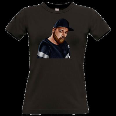 Motiv: T-Shirt Damen Premium FAIR WEAR - Deroxs Porträt