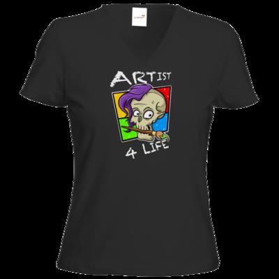 Motiv: T-Shirt Damen V-Neck Classic - Artist4life