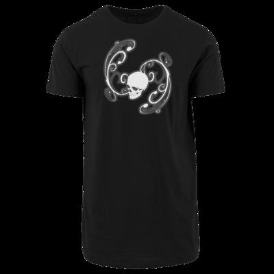 Motiv: Shaped Long Tee - Ornamental Skull
