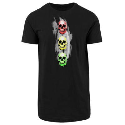 Motiv: Shaped Long Tee - Ampelskull