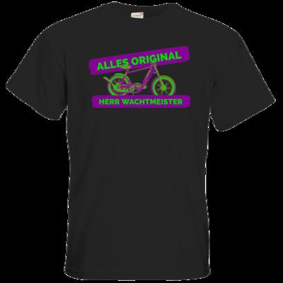 Motiv: T-Shirt Premium FAIR WEAR - Alles original, Herr Wachtmeister - Mofa tuning