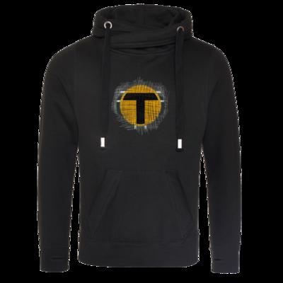 Motiv: Cross Neck Hoodie - Tomtrax Logo