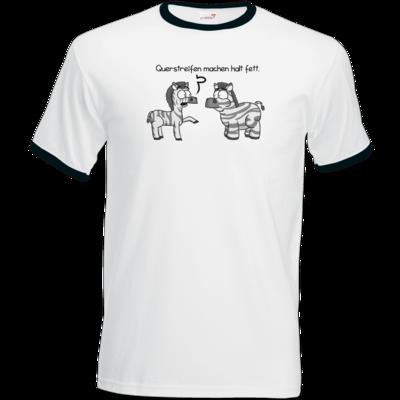 Motiv: T-Shirt Ringer - Zebra