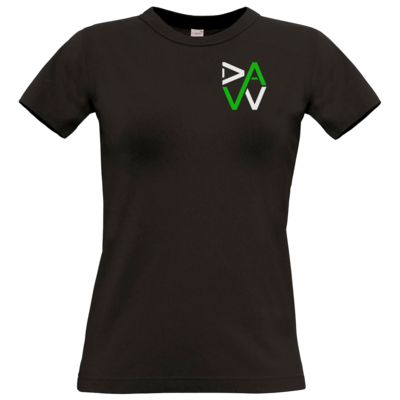 Motiv: T-Shirt Damen Premium FAIR WEAR - DaW-Logo Grün